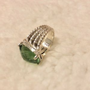 Wheaton ring Prasiolite and diamonds 6.5